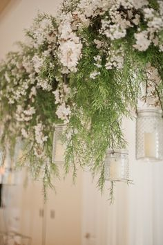 Ceiling Garland   Chic and Classic Wedding Day   Vicki Bartel Photography   Bridal Musings Wedding Blog