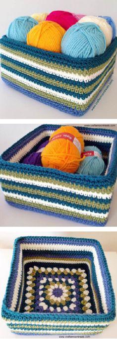 A new retro granny stash box crochet pattern