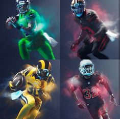 What does it take to become a better football player? Nfl Color Rush Uniforms, Color Rush Nfl, Football Uniforms, Sports Uniforms, Football Helmets, Football Poses, Football Art, Fantasy Football, Football Things