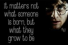 Harry Potter quote :) THIS IS A REALLY IMPORTANT THING TO REMEMBER!!