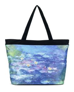 Monet Water Lilies Tote Bag ** Additional details at the pin image, click it : Travel luggage Cheap Luggage, Best Luggage, Travel Tote, Travel Luggage, Monet Water Lilies, Folding Umbrella, Gift Store, Blue Bags, Outdoor Travel