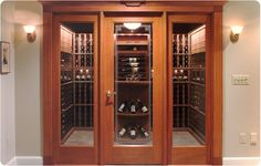 wine cellar - Google Search The wood trim doesn't look bad with the wall color and white baseboards. Hmm...