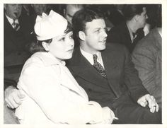 Clara Bow with husband Rex Bell