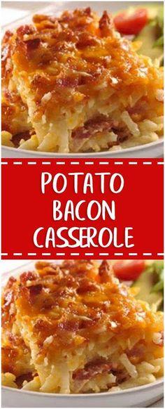 Potato Bacon Casserole #potqto #bacon #casserole #homecooking #cooking #cookingtips