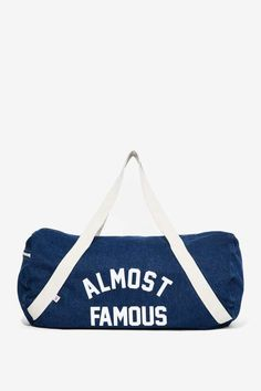 Private Party Almost Famous Denim Duffel Bag - Accessories