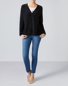 Cashmere Wide V Neck Sweater
