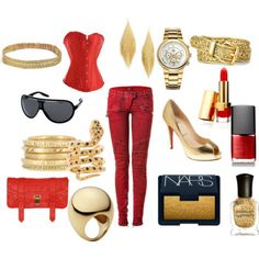 A female Iron Man inspired outfit curated by @melissaloh - what!? great idea