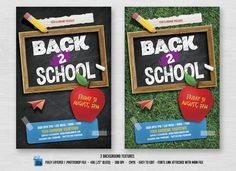 Back To School Flyer By Zaas On Creativemarket  Beach