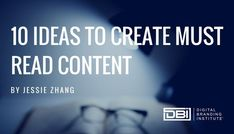To build a great digital brand, you must create great content. One of the most challenging steps of the content creation process is consistently coming up with new content ideas. Here are 10 ideas to create must read content. Email Marketing, Content Marketing, Social Media Marketing, Search Optimization, Digital Trends, Lead Generation, Business Tips, Quotes To Live By, Positivity