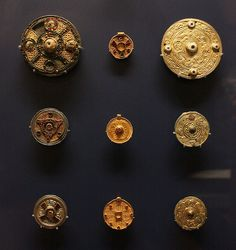 Anglo-Saxon Jewelled Disc Brooches and Escutcheons
