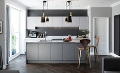 "Kitchen Renovation Trends 2019 - ""Matte everything"" Contemporary Kitchen Interior, Interior Design Kitchen, Handleless Kitchen, Kitchen Cabinetry, Luxury Kitchens, Cool Kitchens, White Kitchens, New Kitchen, Kitchen Decor"