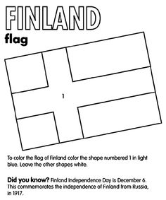 Finland Flag Coloring Page - Finland Flag Coloring Page , Finland Flag Drawing How to Draw National Flag Of Finland Flag Coloring Pages, Free Coloring Sheets, Coloring Pages For Kids, Flag Drawing, Finland Flag, Maps For Kids, Teaching Geography, World Thinking Day, Teaching Colors