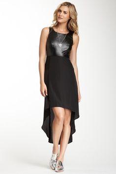 Romeo & Juliet Couture Faux Leather Hi-Lo Dress $60 - Hautelook.com