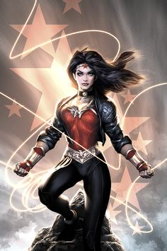 Many Wonder Woman fanboys were upset over the costume when it was firstt revealed, which de-emphasizing the american patriotism & played more on comic's Greek Mythology, meaning they gave her pants. Description from gasparillasblog.blogspot.com. I searched for this on bing.com/images
