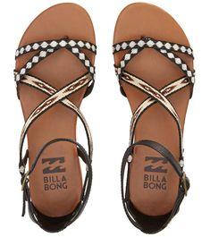 9dd18e635 Billabong Women s Golden Tidez Sandal at SwimOutlet.com - Free Shipping. Black  Strappy ...