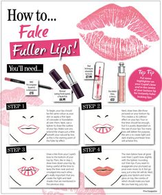 Follow our guide to fake fuller lips. No injectables required! #no1magazine #pout #fullerlips #lips #makeup #howto
