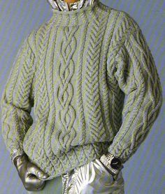 [Tricot] The Irish steel sweater - Knitting 01 Knit Sweater Outfit, Cable Knit Sweaters, Men Sweater, Filet Crochet, Knit Crochet, Aran Knitting Patterns, Knitwear, Boutique, Jumpers