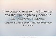 Through A Glass Darkly (1961) dir. by Ingmar Bergman
