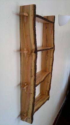 meubles en bois brut, étagère unique