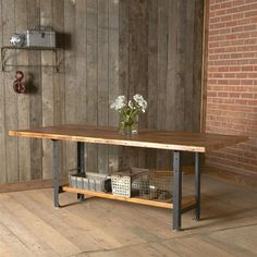 Machine Age Reclaimed Wood Dining Table - contemporary - Dining Tables - UrbanWood Goods