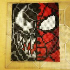 Spiderman-Venom perler beads by chaoticbeauty6 - Pattern: https://www.pinterest.com/pin/374291419005144194/