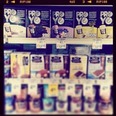 We spy ProYo at Vons Pavilions on Newport Coast in Newport Beach! ProYo is a high-protein frozen yogurt that delivers real nutritional benefits like 20 grams of protein, probiotics, and fiber, as well as, convenience, & above all, great taste.