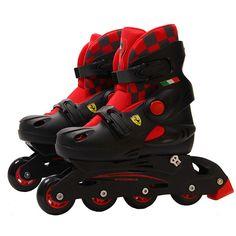 Ferrari FK32 Basic Inline Skating Shoes Hard Shells Velvet Lining Sturdy Frame Safe PVC Wheel
