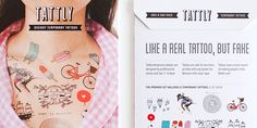 """""""Tattly had been using clear poly bags with a branded tab to package our tattoos for over a year. We realized this was not the best way to display a temporary tattoo and decided to add photography to our packaging. We designed a custom envelope and had full bleed photographs printed on the front. The back of each package has a list of the contents plus other important information regarding our tattoos. Each package holds a set of 8 Tattly temporary tattoos. All of our products are made in…"""