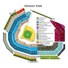 Fenway park seating chart red sox feva pinterest fenway park