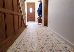 Hall with David & Goliath cement tile Roseline 20x20cm in a customized colour combination David And Goliath, Cement Tiles, Color Combinations, Colour, Design, Home Decor, Boden, Color Combos, Color