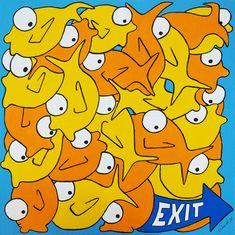 Exit! Andrea Sangalli in arte Ruvido - Galleria Wikiarte Bologna