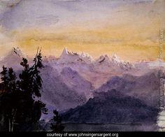 View from Mount Pilatus 1870 - John Singer Sargent - www.johnsingersargent.org
