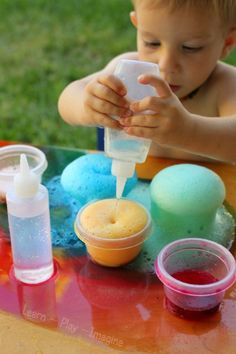 """Let's face it, what's better than foam that erupts?! How about mystery color eruptions! See how to create this fun experiment with """"Learn, Play, Imagine."""""""