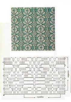 https://www.facebook.com/photo.php?fbid=2156838577744259 Knitting Stiches, Crochet Stitches Patterns, Filet Crochet Charts, Crochet Diagram, Crochet Designs, Crochet Curtains, Crochet Clothes, Crochet Scarves, Crochet Cardigan