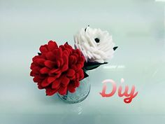 How to make a FELT FLOWER fast and easy!! DIY, crafts - YouTube