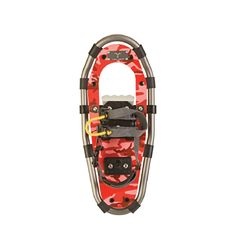 Our Jr. Series aluminum kids snowshoes feature the new Ripcord one pull binding.  Now with one easy pull, you will be on the trail. Parents will love this feature! No more getting down on your knees to tighten the kids' bindings. #ExperienceWinter #Winter #Snowshoeing #KidsActivities