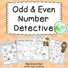 Odd and Even Number worksheets page pack. 100 Number Chart, Number Worksheets, Cut And Paste, Teacher Pay Teachers, Teacher Newsletter, Sunsets, Student, Teaching, Education