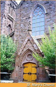 St Mary's Church, Newport, where JFK and Jackie got married. #VisitRhodeIsland