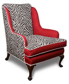 Before & After: Zebra Wingback Chair
