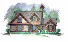 Cow Lick Cabin Front Elevation -- Natural Element Homes