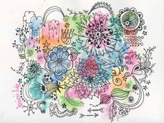 Custom handmade  hand drawn watercolor doodle cards by gracieandco, $17.50