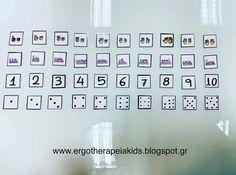 Μαθαίνουμε τους αριθμούς και παίζουμε μαζί τους, ταυτίζοντας τους ποσοτικά με κουκίδες και δακτυλάκια, αλλά και με γράμματα! 9 And 10, Photo Wall, Frame, Kids, Home Decor, Picture Frame, Young Children, Photograph, Boys