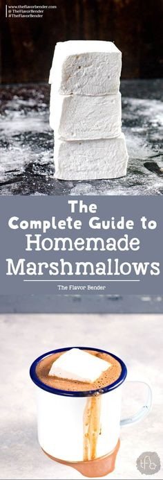 Learn how to make marshmallows without corn syrup (or with corn syrup) with this step by step detailed recipe. Once you know the basics, you can make perfect vanilla marshmallows every single time. via @theflavorbender