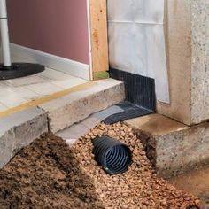 Basement Drainage Drying A Wet-Basement Drain Tile Installation Insulating Basement Walls, Framing Basement Walls, Leaking Basement, Basement Insulation, Wet Basement, Basement Windows, Basement Bedrooms, Basement Flooring, Basement Waterproofing