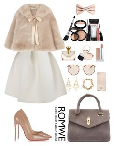 """""""Romwe 8"""" by amra-f ❤ liked on Polyvore featuring Christian Louboutin, Coast, Tory Burch, Ray-Ban, H&M, Bulgari, By Terry, Laura Geller, 1d and romwe"""
