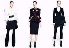 Women Career Suit inspire from Alexander Mcqueen Pre-fall Collection 2012