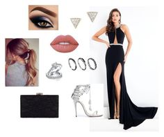 """""""Sem título #282"""" by heloisebaptista ❤ liked on Polyvore featuring Rachel Allan, Marchesa, Lime Crime, Bling Jewelry, DesignSix, Adina Reyter and Chesca"""