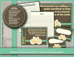 """Relief Society handouts and lesson helps.  Lorenzo Snow Chapter 19:  Missionary Work """"To Reach Every Human Heart"""""""