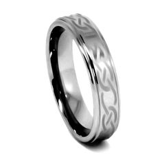 Tungsten Ring Direct - Tungsten Ring for Women, Flat Top, High Polished Laser Etch Infinity Knot - 6MM, $24.99 (http://www.tungstenringdirect.com/tungsten-ring-for-women-flat-top-high-polished-laser-etch-infinity-knot-6mm/)