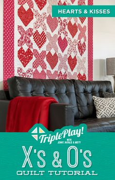 Join the Doan girls as they create three new and unique quilt patterns just in time for Valentine's Day featuring X's and O's! Follow the link below to watch the Triple Play quilting tutorial now. #MissouriStarQuiltCo #QuiltingForBeginners #Quilts